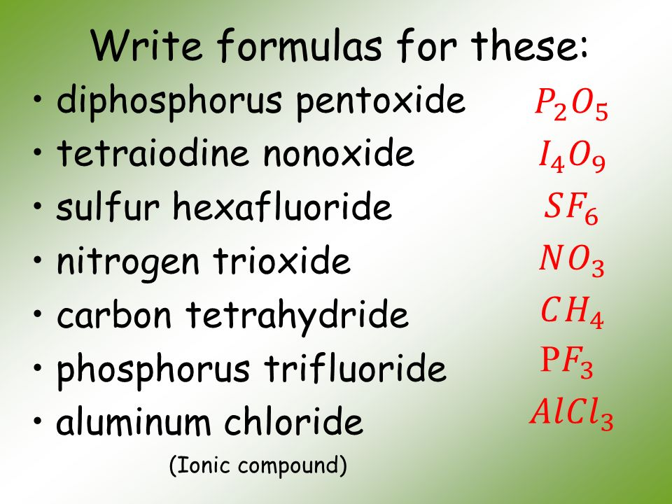 Esalad Write Names For These Binary Ionic Compounds 929514077 2018