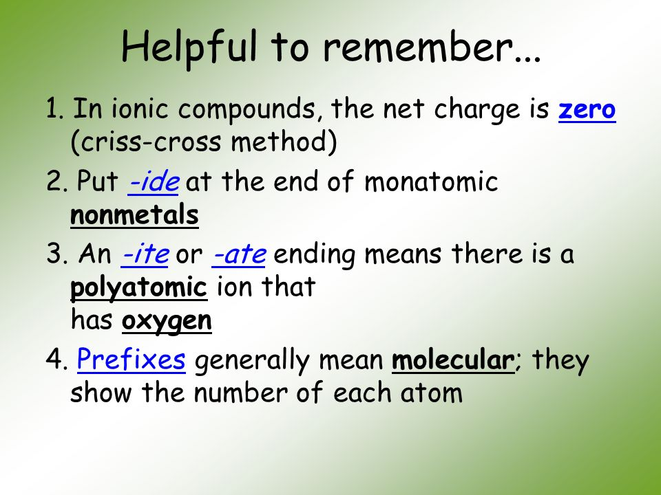 "Unit 5 ""Chemical Names and Formulas"""