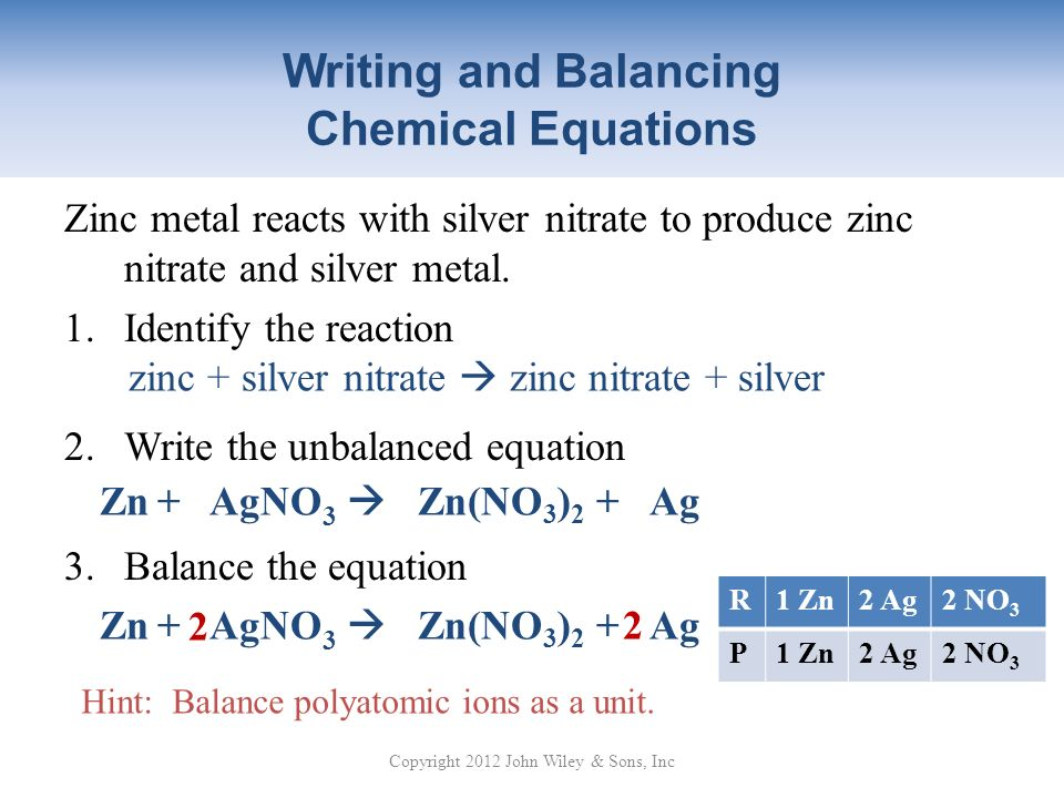 """writing and balancing chemical equations The simplest and most generally useful method for balancing chemical equations  is """"inspection,"""" better."""