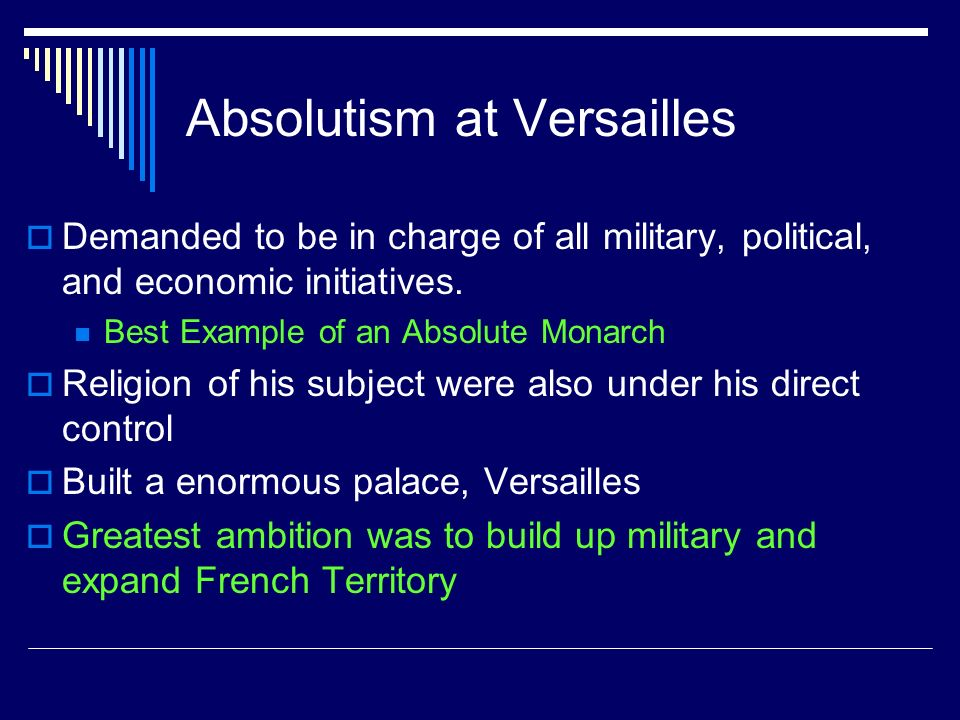 Absolutism at Versailles
