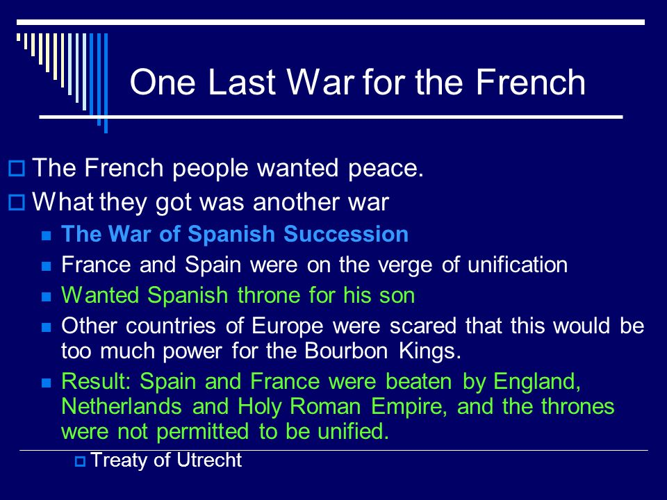 One Last War for the French