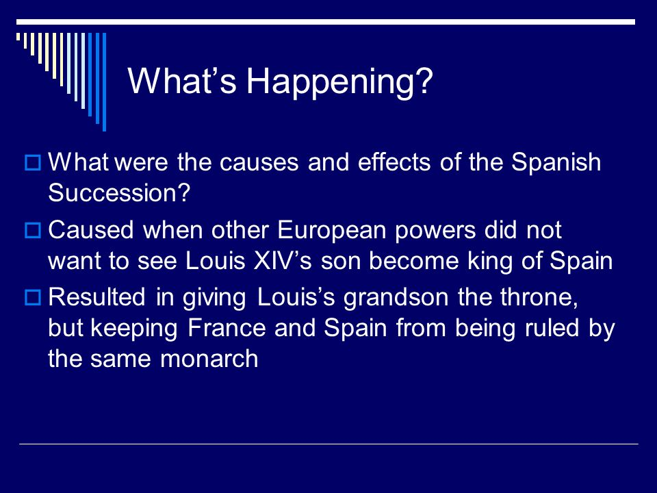 What's Happening What were the causes and effects of the Spanish Succession