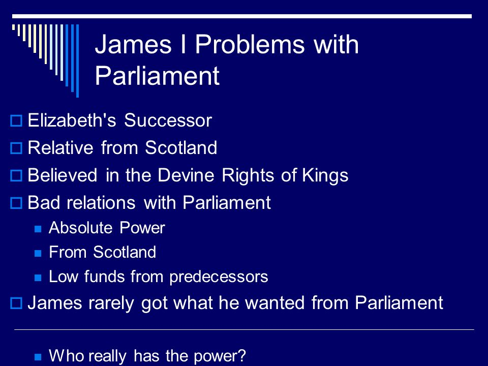 James I Problems with Parliament