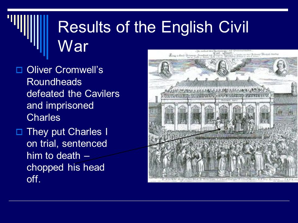 Results of the English Civil War