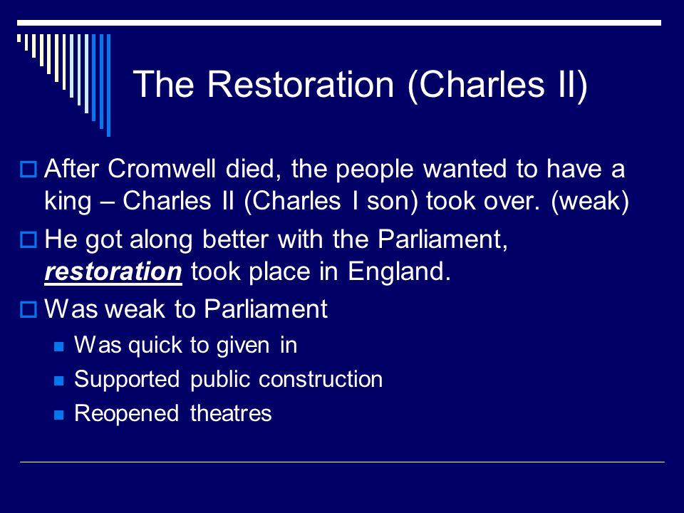 The Restoration (Charles II)