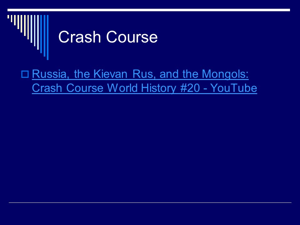 Crash Course Russia, the Kievan Rus, and the Mongols: Crash Course World History #20 - YouTube