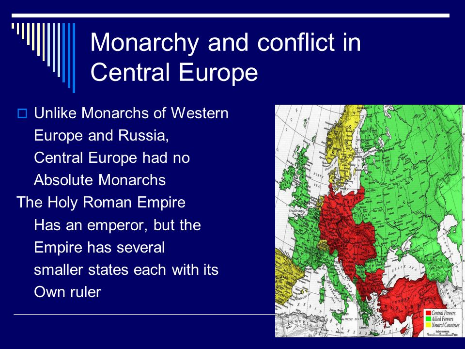 Monarchy and conflict in Central Europe