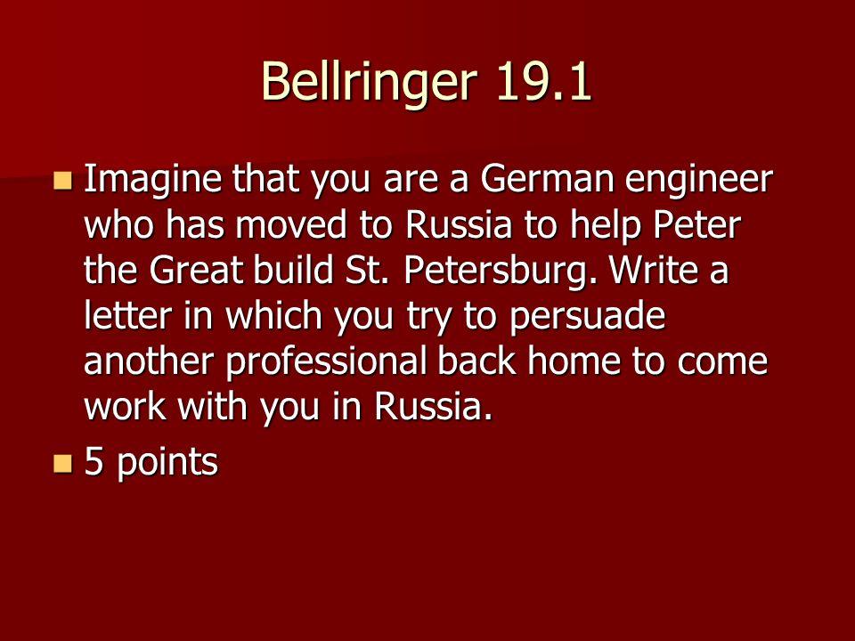 Bellringer 19.1
