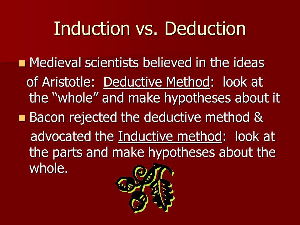 Induction vs. Deduction