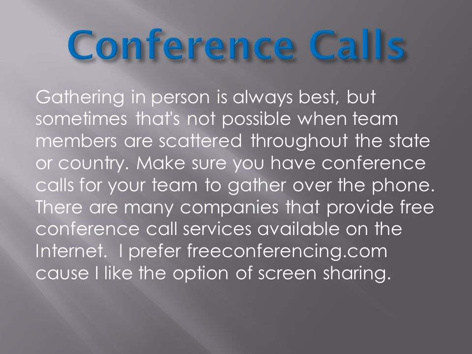 how to make a phone conference call