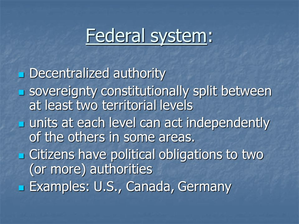 examples of u s federal government authority Identify and describe 4 examples of us federal government expansion of authority between the beginning of the us civil war and the end of the civil right era these examples must be placed in the context of the importance of the following developments in the united states.
