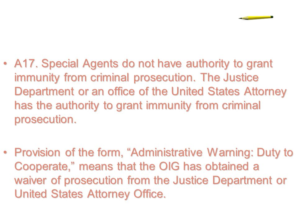 INTERROGATION BY THE OFFICE OF INSPECTOR GENERAL OR POSTAL ...