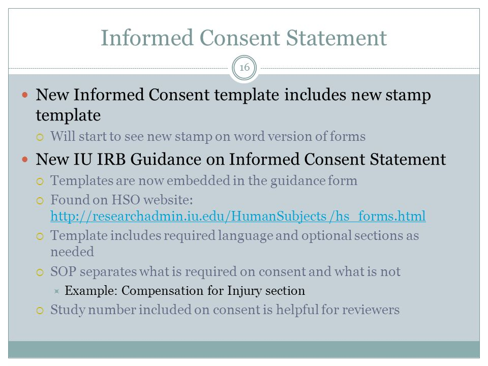 Human subjects forms procedures update ppt video online download 16 informed consent statement pronofoot35fo Choice Image