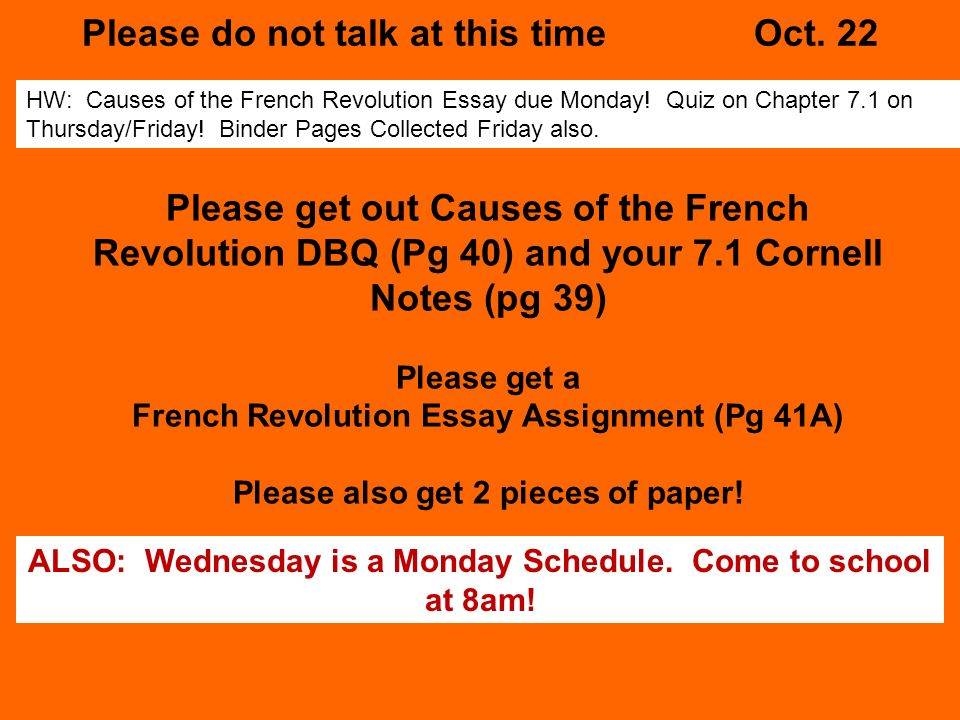dbq on french revolution The french revolution allowed for the dethroning of the king when the revolution began but later lead to an emperor in napoleon the terror was the killing.