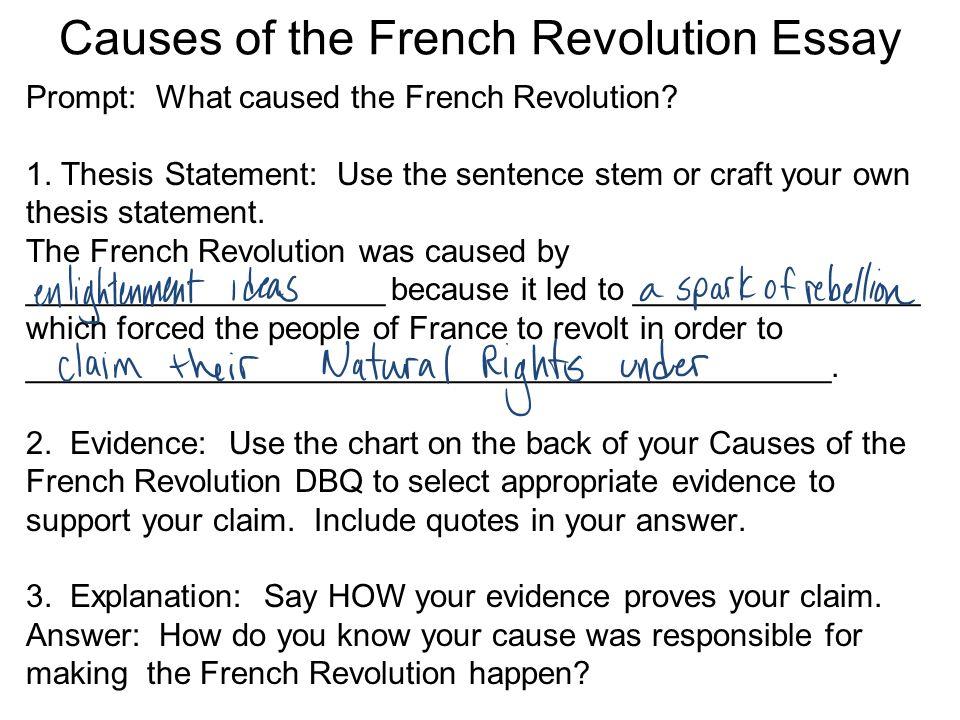 French revol causes essay