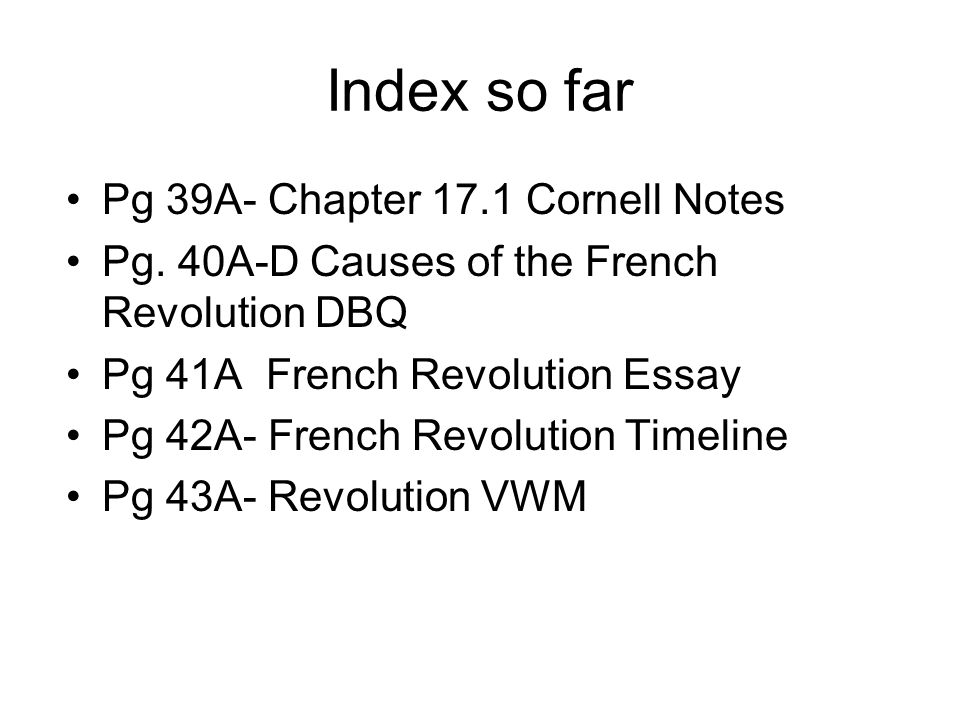 dbq on french revolution essay