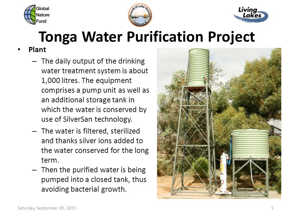 Tonga Water Purification Project Ppt Download