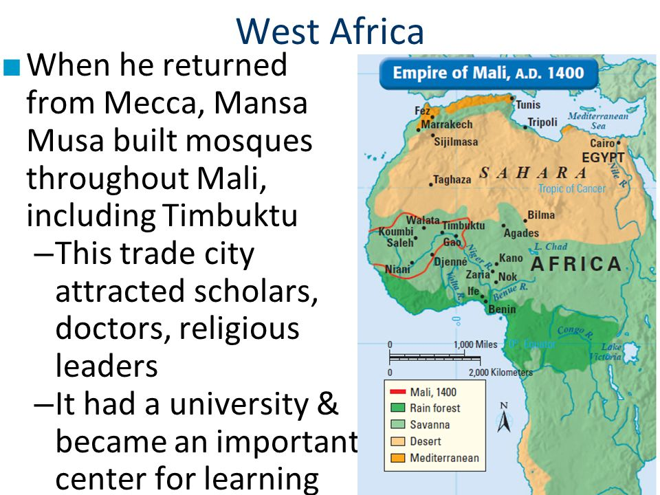 mali empire and important trading center One similarity between the ancient african kingdoms of egypt, ghana, mali and songhai is that all of these kingdoms were located in mountainous areas on major trading routes.