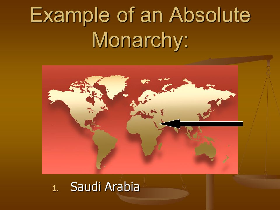 Example of an Absolute Monarchy: