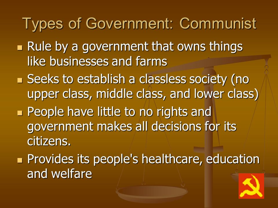 Types of Government: Communist
