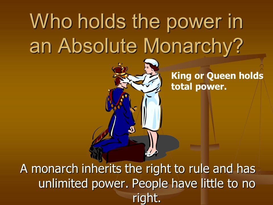 Who holds the power in an Absolute Monarchy