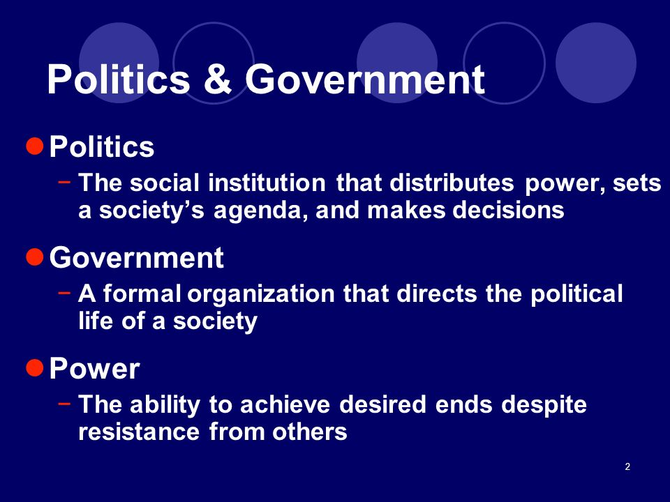 Politics & Government Politics Government Power