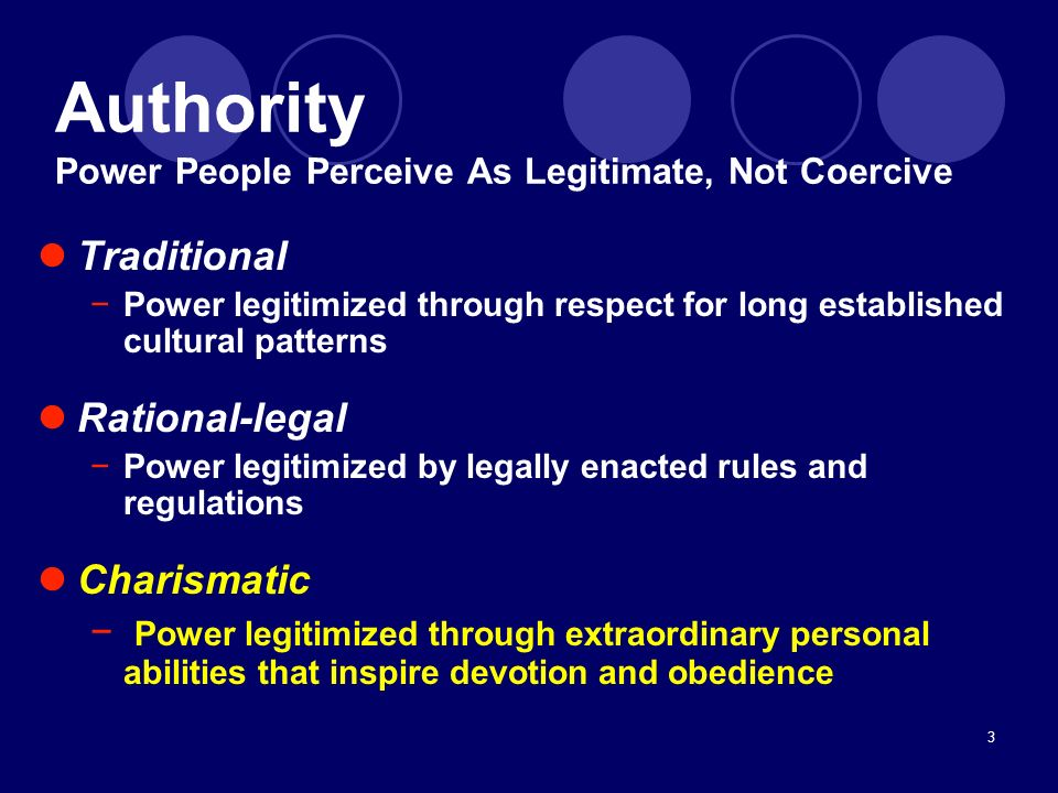 Authority Power People Perceive As Legitimate, Not Coercive