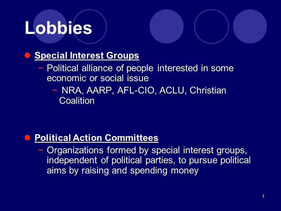 Lobbies Special Interest Groups