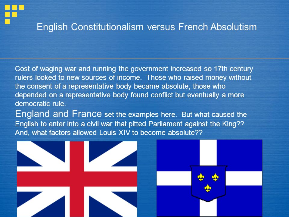 Chapter 13 Paths to Constitutionalism and Absolutism: England and France in the 17th Century