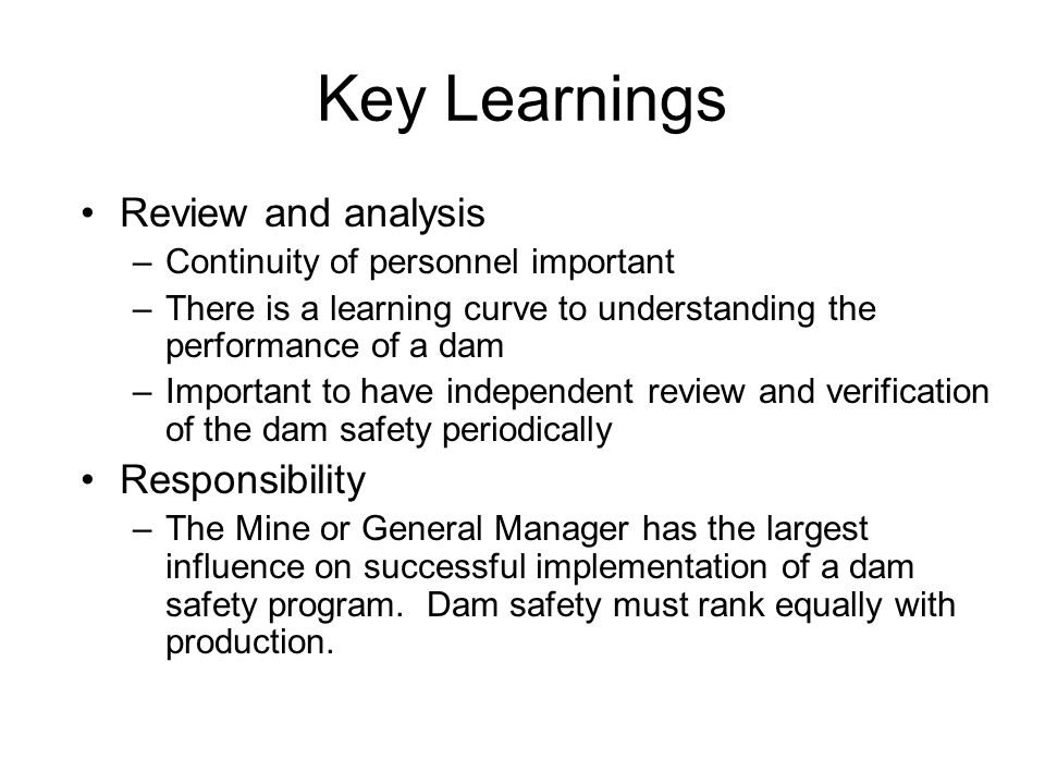 Tailings Dam Safety And Implementation Of Safety Guidelines By A Tailings Dam Operator This