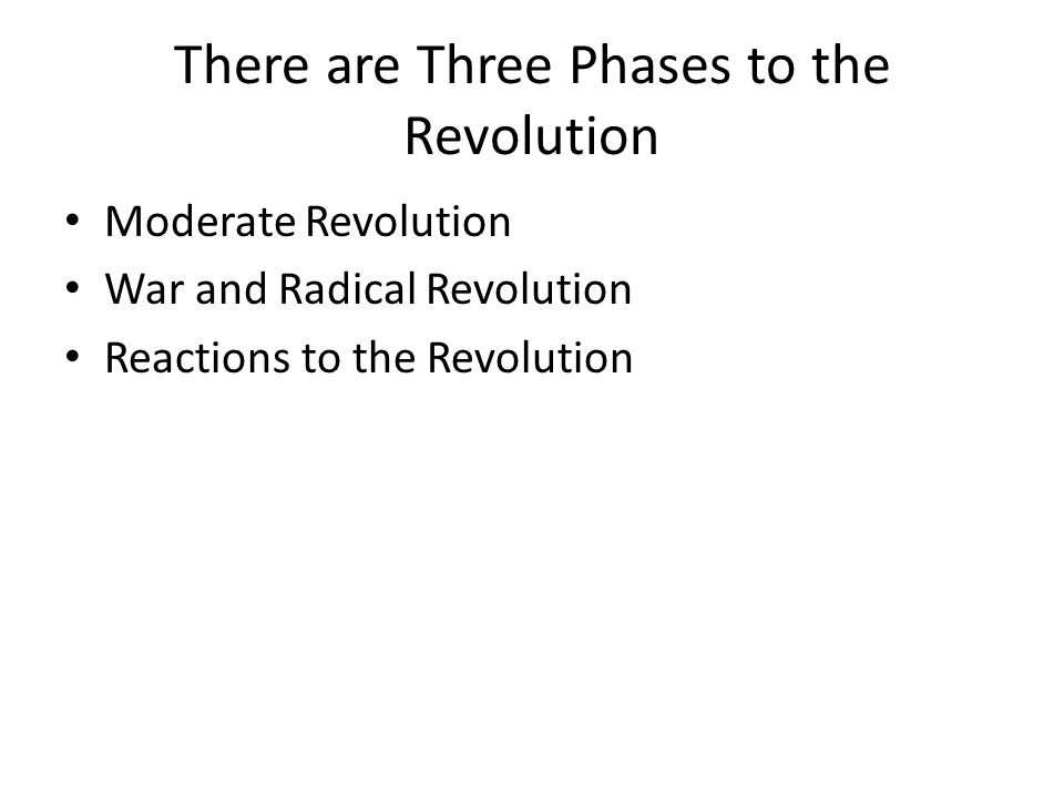 There are Three Phases to the Revolution