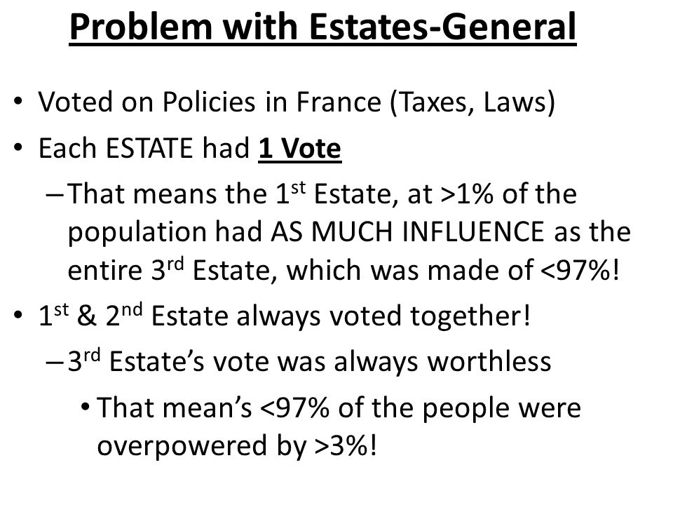 Problem with Estates-General