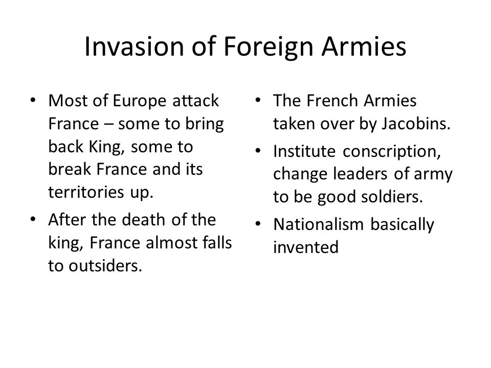 Invasion of Foreign Armies