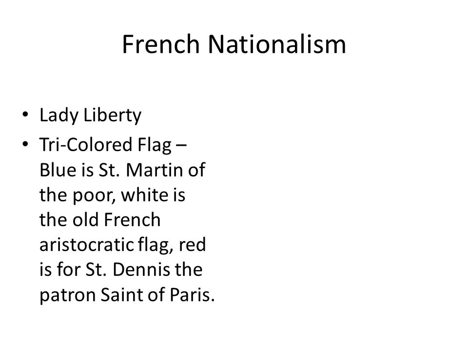 French Nationalism Lady Liberty