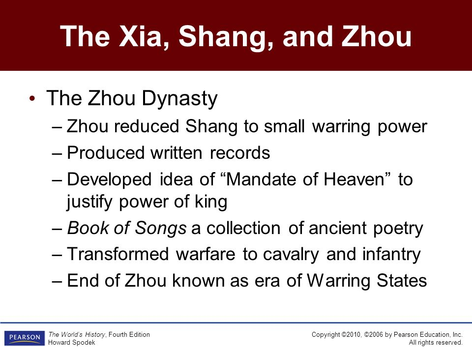 shang and zhou dynasties compare and contrast