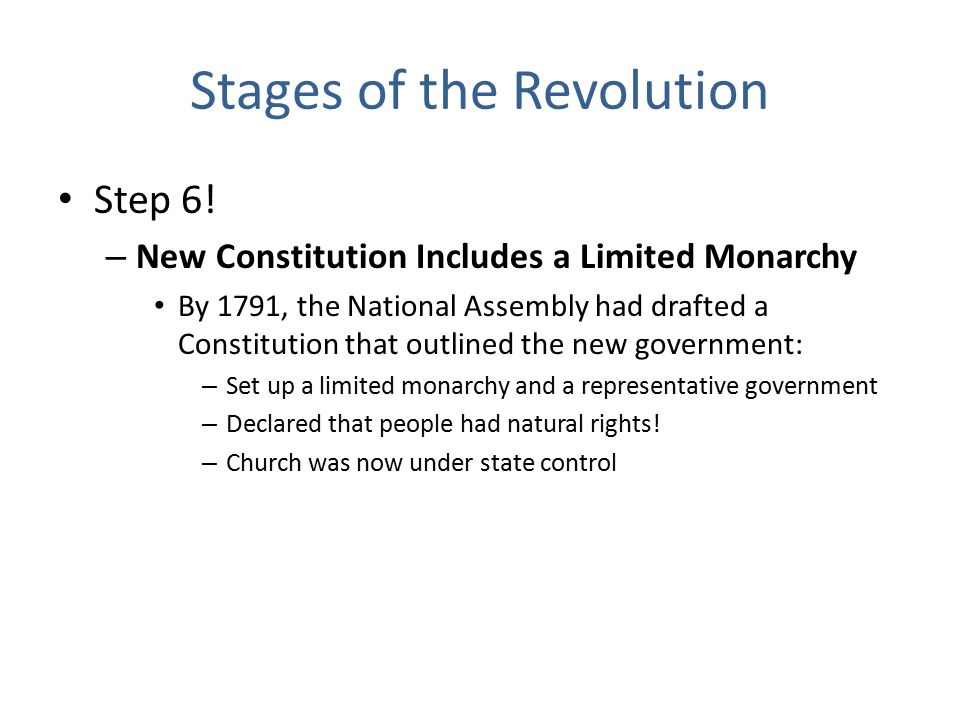 Stages of the Revolution