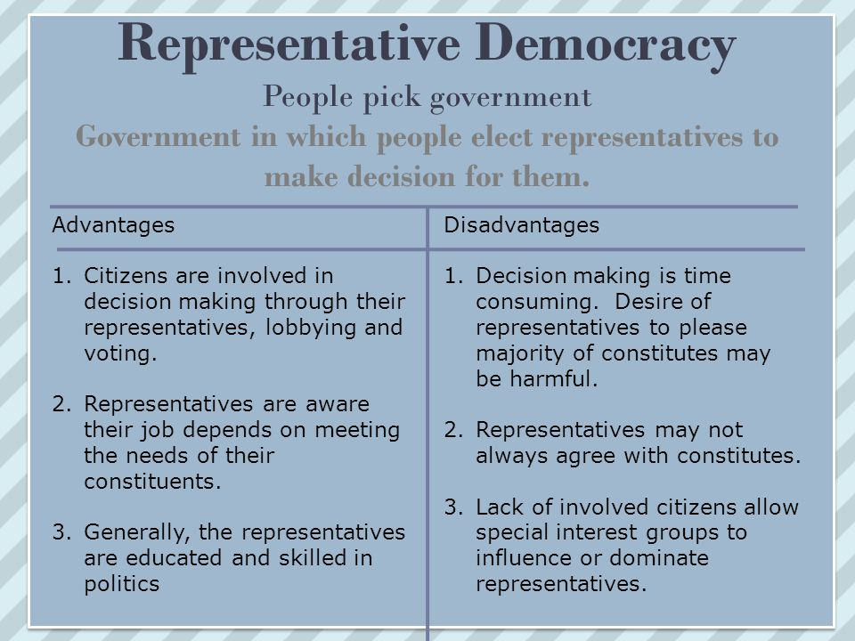 advantages of democracy Need help with chapter 11 advantages of democracy in the united states in alexis de toqueville's democracy in america check out our revolutionary side-by-side.