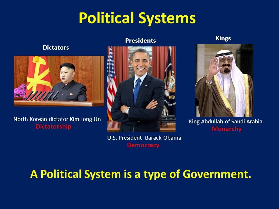 A Political System is a type of Government.