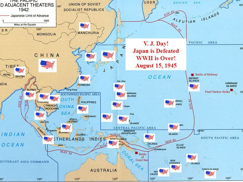 V. J. Day! Japan is Defeated WWII is Over! August 15, 1945