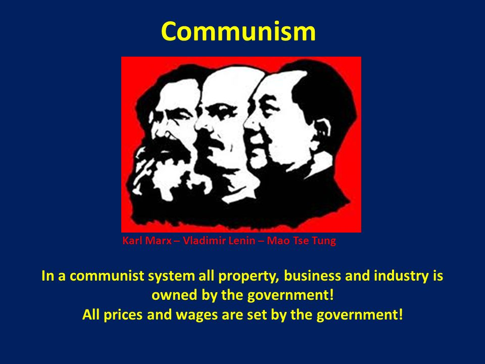 All prices and wages are set by the government!