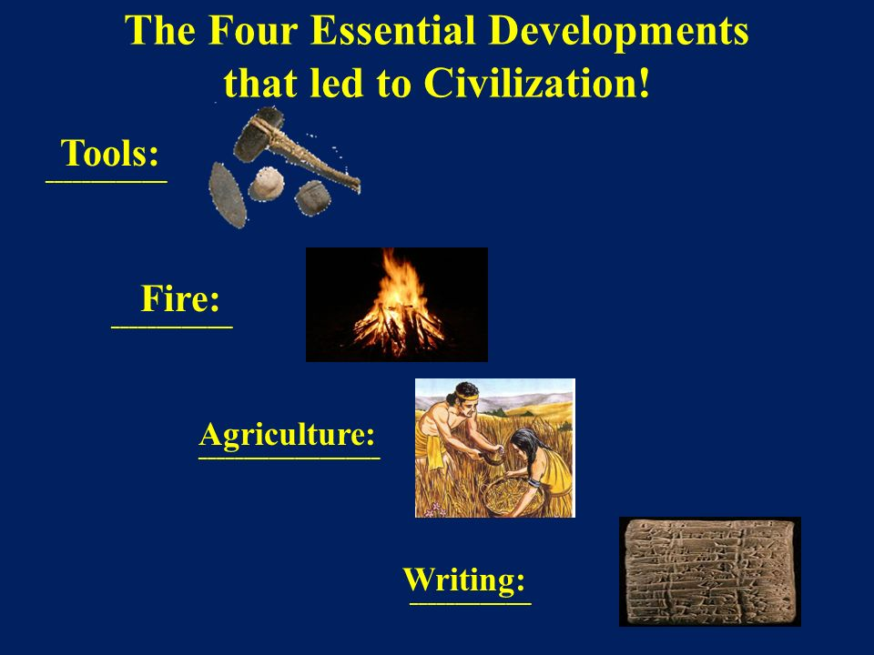 The Four Essential Developments that led to Civilization!