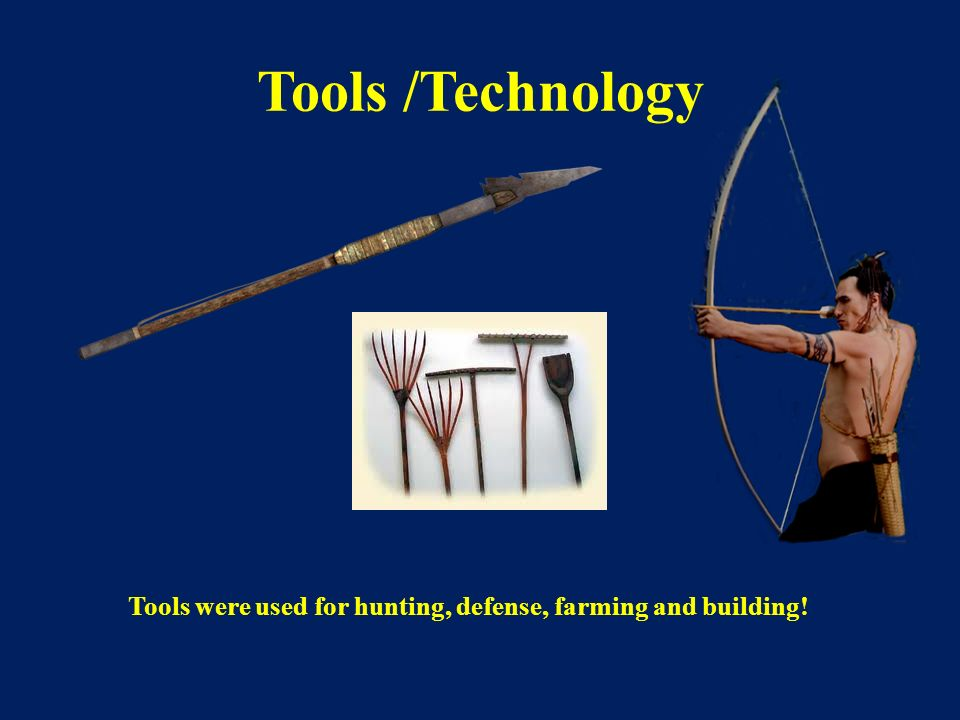 Tools were used for hunting, defense, farming and building!