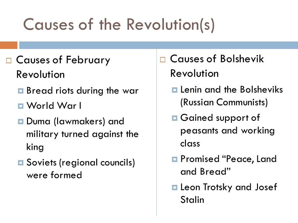 Causes of the russian revolution 1917 essay