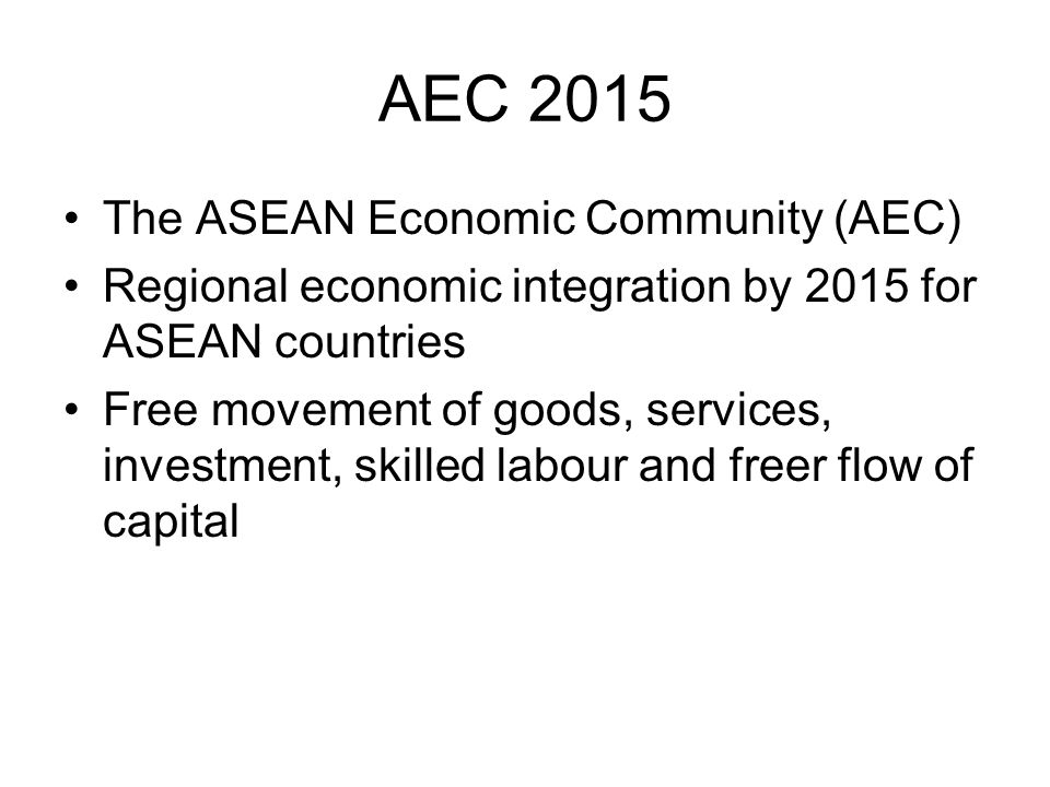 benefits of the asean economic community aec essay Kyi kyi seinn discusses asean vision 2020,  asean economic community (aec) and asean socio-cultural community (ascc)  will miss out on the benefits of.