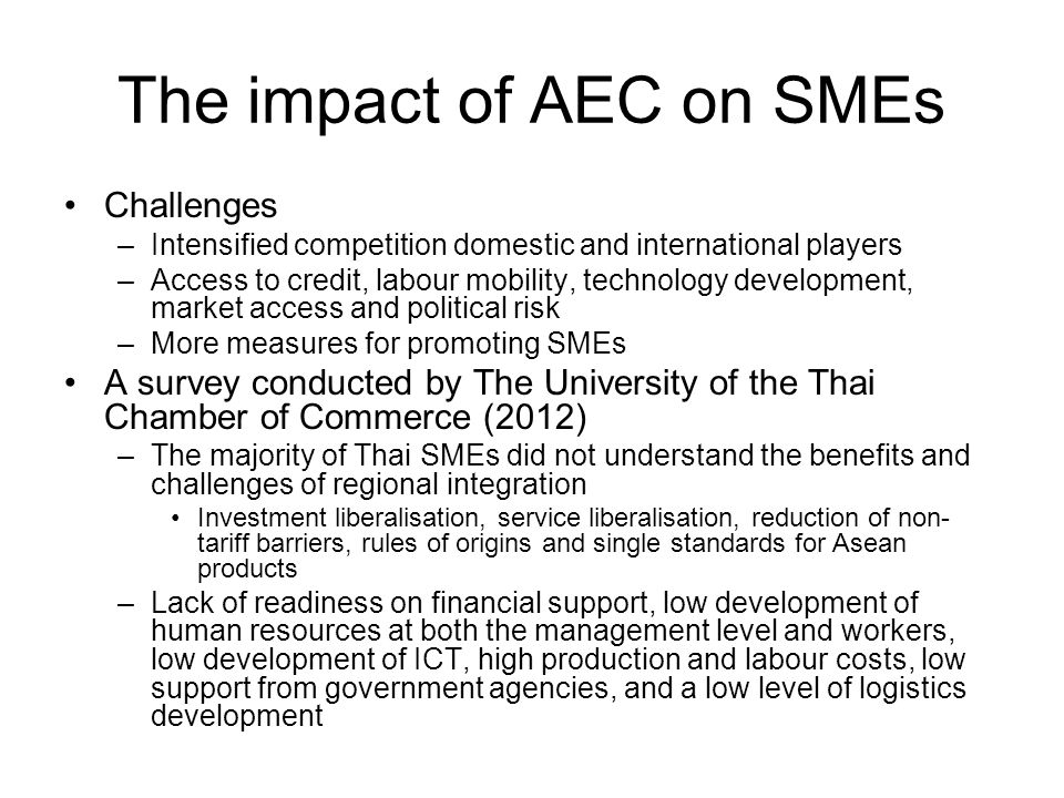 the impact of technology on sme s Second oecd conference of ministers responsible for small and medium-sized enterprises (smes) promoting entrepreneurship and innovative smes in a global economy.