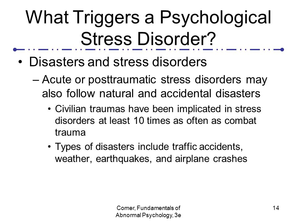 natural disasters acute stress disorder and posttraumatic stress disorder essay David morris wrote that essay he's the author of a history of ptsd and a former  marine infantryman  people who survive auto accidents, people who have near  misses in airplanes, people who survive natural disasters.