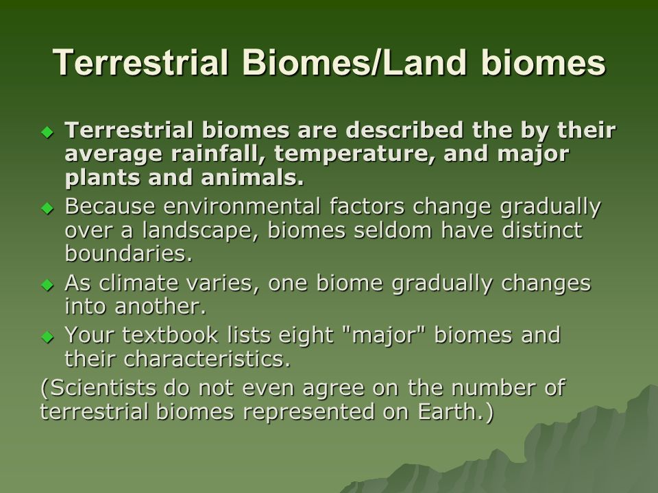 biomes and their characteristics Biomes a biome is a large has many plants brought to it from similar biomes elsewhere vineyards, olives, and figs flourish just as they do in their native.