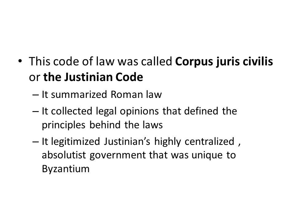 Western Civilization Chapter ppt download – Justinian Code Worksheet