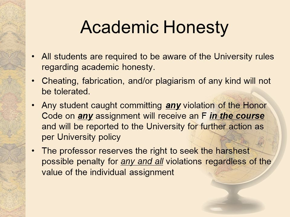 cheating academic dishonesty and honor code Honor codes are intended to teach can we trust school honor codes to prevent cheating by based on his extensive work in academic dishonesty.
