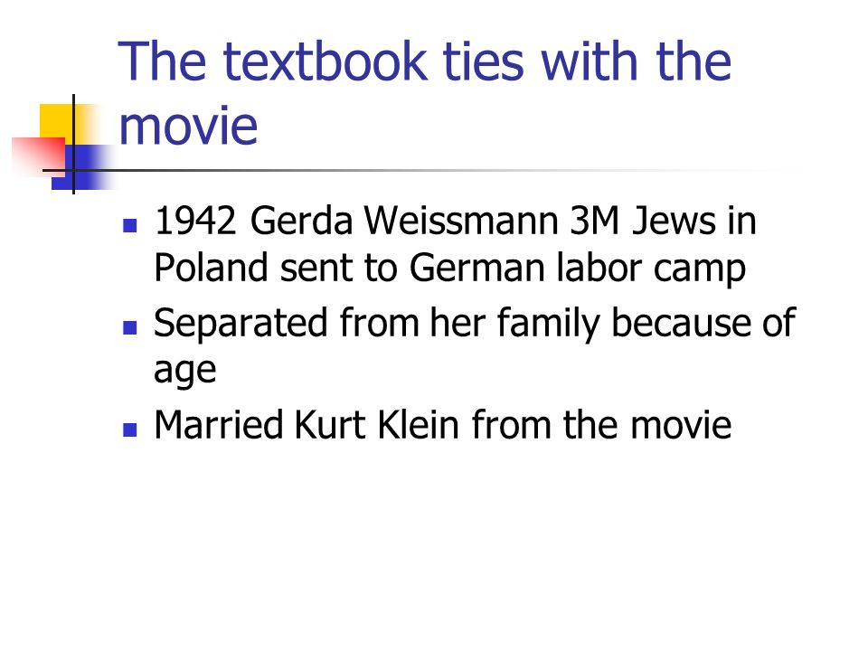The textbook ties with the movie